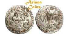 Ancient Coins -  Indo-Skythians, Posthumousm Azes II. Circa 35-12 BC. Tetradrachm.