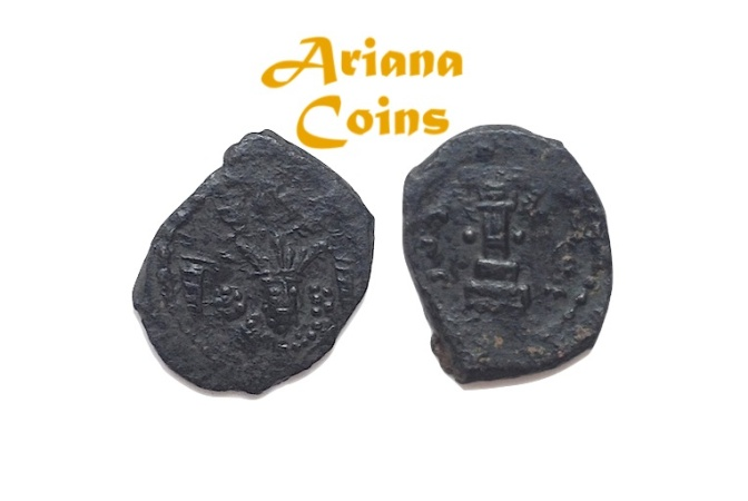 Ancient Coins - Hunnic Tribes, Kidarites. Kidara?. Circa 350-385 AD. AE Unit. Extremely Rare Unpublished.