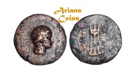 Ancient Coins - Baktrian Kings. Euthydemos II . Circa 185-180 BC. AE Triple Unit