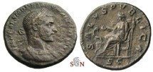 Ancient Coins - Macrinus AE As - SALVS PVBLICA - RIC 200