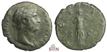 Ancient Coins - Hadrianus As - Salus standing right - RIC 669