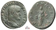 Ancient Coins - Maximinus I Thrax Sestertius - PAX AVGVSTI - RIC 81