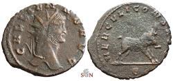 Ancient Coins - Gallienus Antoninianus - HERCVLI CONS AVG - Rare - RIC 202