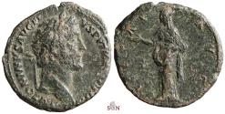 Ancient Coins - Antoninus Pius AE As - PIETAS AVG - RIC 823