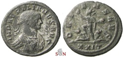 Ancient Coins - Aurelianus Antoninianus - cuirass decorated with Medusa-head - very rare