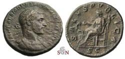 Ancient Coins - Macrinus AE As - SALVS PVBLICA - RIC 200