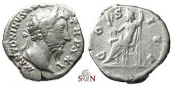 Ancient Coins - Marc Aurel Denarius - Jupiter seated left - RIC 227