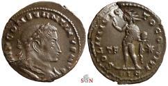 Ancient Coins - Constantinus I Follis - SOLI INVICTO COMITI - Lugdunum mint - RIC 32