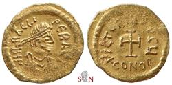 Ancient Coins - Heraclius Gold Tremissis - Cross potent - Sear 786