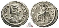 Ancient Coins - Julia Domna Denarius - PVDICITIA - RIC 644