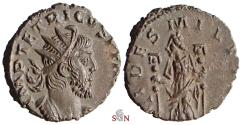 Ancient Coins - Tetricus I Antoninianus - Fides standing left - Exceptional Portrait - Elmer 784