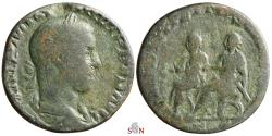 Ancient Coins - Philippus II Sestertius - LIBERALITAS AVGG III - RIC 267a - ex Grohs-Fligely collection 1875-1962