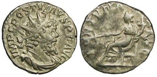 Ancient Coins - Postumus Antoninianus - Fortuna seated left - Elmer 384