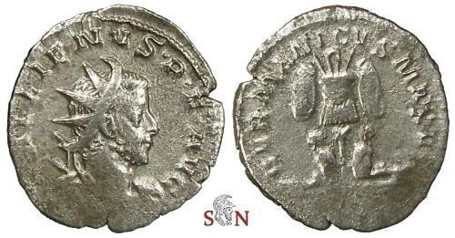 Ancient Coins - Gallienus Antoninianus - GERMANICVS MAX V - RIC 18