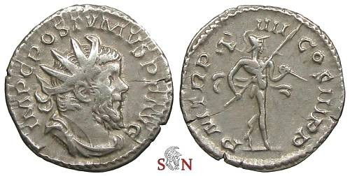 Ancient Coins - Postumus Antoninianus - Mars walking right - Elmer 332