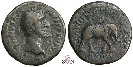 Ancient Coins - Antoninus Pius As - MVNIFICENTIA AVG - RIC 862a