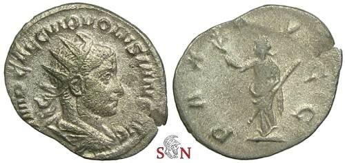 Ancient Coins - Volusianus Antoninianus - PAX AVGG - RIC 179