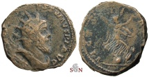 Ancient Coins - Postumus Double Sestertius - Victory on globe right - not in Bastien