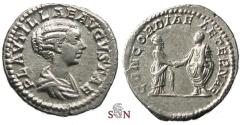 Ancient Coins - Plautilla Denarius - CONCORDIAE AETERNAE - RIC 361