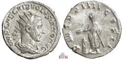 Ancient Coins - Volusianus Antoninianus - Emperor standing left - RIC 141