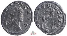 Ancient Coins - Gallienus Antoninianus - Stag walking left - Goebl 745 b