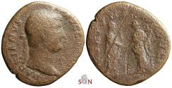Ancient Coins - Hadrianus AE As - FORTVNAE REDVCI - RIC 813 d