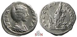 Ancient Coins - Julia Domna Denarius - SAECVLI FELICITAS - ISIS holding Horus - RIC 577