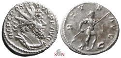 Ancient Coins - Postumus Antoninianus - Mars advancing right, captive at feet - Elmer 291 - very rare