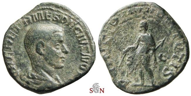 Ancient Coins - Herennius Etruscus Sestertius - PRINCIPI IVVENTVTIS - RIC 171a - Ex Lückger collection