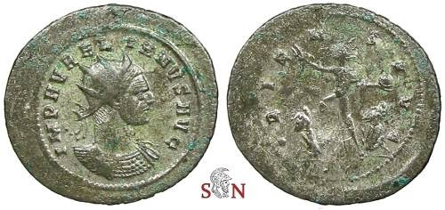Ancient Coins - Aurelianus Antoninianus - ORIENS AVG - RIC 364 - huge flan