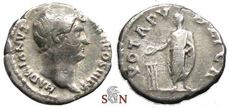 Ancient Coins - Hadrianus Denarius - VOTA PVBLICA - RIC 290