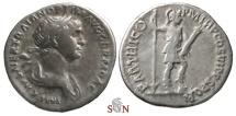 Ancient Coins - Trajanus Denarius - Virtus stg. right - RIC 334