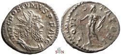 Ancient Coins - Postumus Antoninianus - IOVI STATORI - Elmer 363