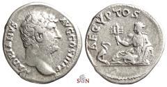 Ancient Coins - Hadrianus Denarius - AEGYPTOS - Egypt reclining left - RIC 1481
