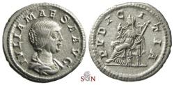 Ancient Coins - Julia Maesa Denarius - PVDICITIA - RIC 268