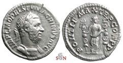 Ancient Coins - Macrinus Denarius - PONTIF MAX TR P COS P P - Fides Militum - RIC 22