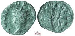 Ancient Coins - Gallienus Antoninianus - FORTVNA REDVX - Rare w. left facing head - Goebl 586 b (1 specimen)