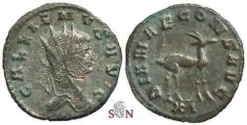Ancient Coins - Gallienus Antoninianus - DIANAE CONS AVG - Cunetio 1401