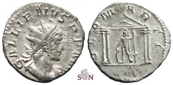 Ancient Coins - Gallienus Antoninianus - DEO MARTI - Cologne mint - RIC 10