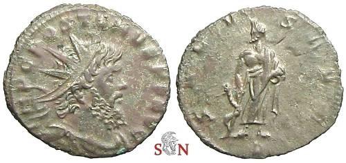 Ancient Coins - Postumus Antoninianus, struck under Aureolus - SALVS AVG / P Milan Mint - Elmer 618