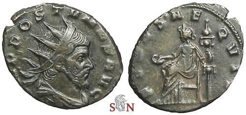 Ancient Coins - Postumus Antoninianus - FIDES AEQVIT - Very Rare - Elmer 603