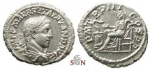 Ancient Coins - Severus Alexander Denarius - Salus seated left - RIC 42