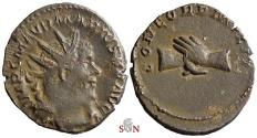 Ancient Coins - Marius Antoninianus - CONCORD MILIT - Clasped hands upside down - AGK 1a