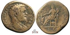 Ancient Coins - Clodius Albinus Sestertius - FORT REDVCI COS II - RIC 53b -