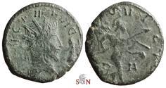 Ancient Coins - Tetricus I. local imitation - Mars advancing right