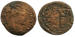 Ancient Coins - Tetricus I Local Imitation - Interesting Double Strike - Barbarous Radiate
