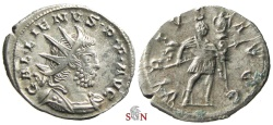 Ancient Coins - Gallienus Antoninianus - VIRTVS AVGG - RIC 58 - Ex Lückger Collection