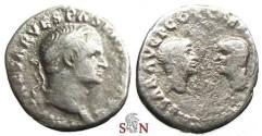 Ancient Coins - Vespasianus Denarius - heads of Titus and Domitian - Rare - RIC 2