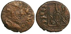 Ancient Coins - Tetricus I local imitation - sacrificial implements