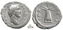 Ancient Coins - Antoninus Pius Denarius - Modius - RIC 44